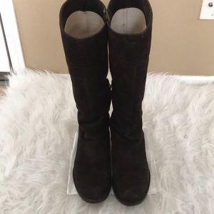 Via Spiga suede dark brown boots size 6